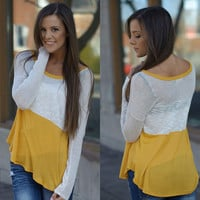 Days Like These Top (Mustard) - Piace Boutique