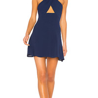 by the way. Ember Halter Fit & Flare Dress in Navy Blue | REVOLVE