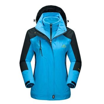 Mountainskin Women's 2 piece Softshell Waterproof Thermal Hiking, Camping & Skiing Fleece Jacket