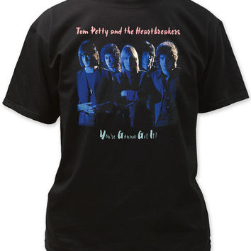 Tom Petty and the Heartbreakers T-Shirt - You're Gonna Get It Album Cover Artwork. Men's Black Shirt