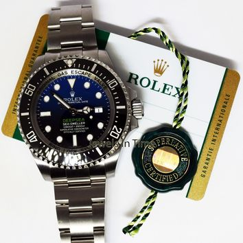 Rolex NEW Cameron Deepsea Sea-Dweller Steel Ceramic Watch Box/Papers 116660