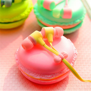 Birthday Gift Fashion Macarons Design Universal 3.5mm Cute Girl Stereo Headphone Headset for Girl Earphone Daugther XIAOMI MP3