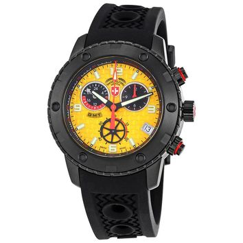Swiss Military Rallye GMT Yellow Dial Mens Silicone Watch 2754