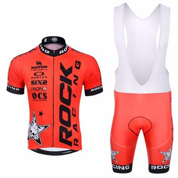 rock racing cycling clothing short set Jerseys  maillot ciclismo bike bicycle clothes clothing sportwear Cortocircuitos FOR MEN