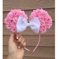 Pink minnie ears