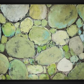 Pebbles 28L X 22H Floater Framed Art Giclee Wrapped Canvas