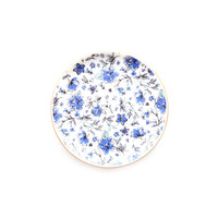 Ditzy Blue Floral Jewelry Dish
