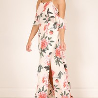 Bel Air maxi dress in pink floral Produced By SHOWPO