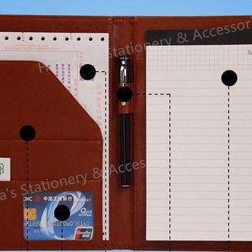 A5 Business Manager Conference File Folder Organizer Signature agreement padfolio Harphia FPDB-410