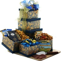 Art of Appreciation The Crowd Pleaser Gourmet Food Gift Tower (Chocolate Option)