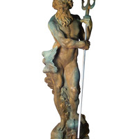 Neptune With Trident by Orlandi Statuary at Gilt