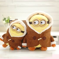2016 New Despicable Me Cute Plush Dolls Minions Animation Baby Toys Best Holiday Gifts Christmas Gift Movie Stuffed Plush WW84