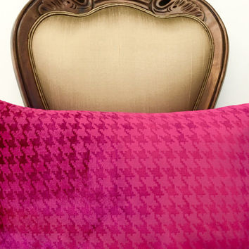 Fuchsia Velvet Pillow Cover, Limited Velvet Cushion, Lumbar Velvet Pillow, Decorative Pillow, Designer Pillow, 12X20 Fuchsia Pillow Covers