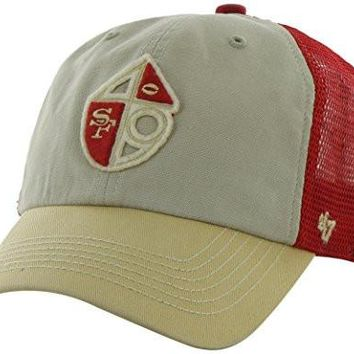 San Francisco 49ers Throwback Logo Mcnalley Adjustable Snapback Mesh Slouch Hat