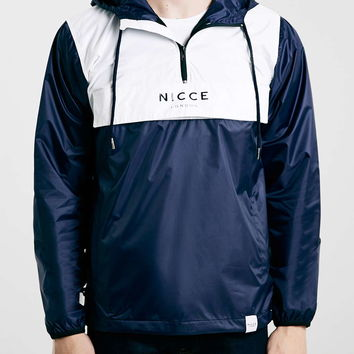 Nicce Navy / White Cagoule - Men's Jackets & Coats - Clothing