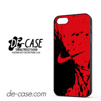 Nike Blood Red For Iphone 5 Iphone 5S Case Phone Case Gift Present YO
