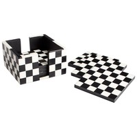 Check Mate Coasters - Set of 6 by Cyan Design