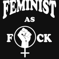'Feminist as Fuck' Women's Fitted Scoop T-Shirt by Samuel Sheats