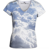 Clouds Women's  V-Neck Tee