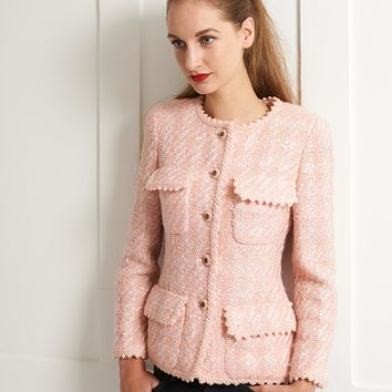 Vintage Chanel pink tweed fitted jacket - Vintage Heirloom 181385