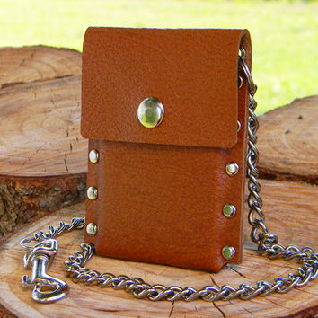Front Pocket Wallet, Leather Chain Wallet, Genuine Leather Wallet, Trucker and Biker Wallet, Men's and Women's Wallet, Slim Wallet,