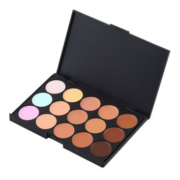 Professional 15 Color Make Up Cream Camouflage Concealer Palette