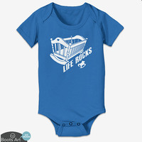 Life Rocks - Baby Onesuit and Toddler Tee. 100% Cotton. Personalized with name upon request.