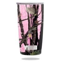 Protective Vinyl Skin Decal for YETI 20 oz Rambler Tumbler wrap cover sticker skins Pink Tree Camo DECAL ONLY