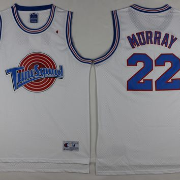22 bill murray space jam tune squad basketball jersey white stitched
