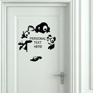 Wall Mural Vinyl Decal Sticker Sign Door Frame Personalized Text Name AL290
