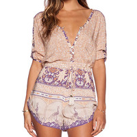 Spell & The Gypsy Collective Xanadu Playsuit in Tan