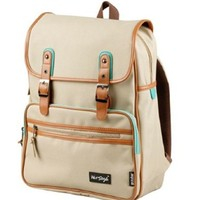 [HotStyle Basic Classic] SmileDay Vintage Laptop Backpack for College School, Khaki