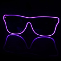 EL Wire Light Up Black and Purple Sunglasses : LED Wire Glasses from RaveReady