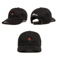 The Hundreds Rose Strap Back Cap Men Women Adjustable Golf Snapback Baseball Black Dad Hat Casquette
