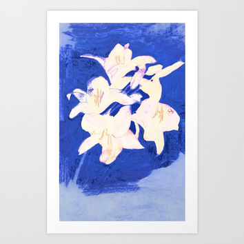 Summer Breeze Blue Art Print by anipani