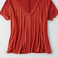 AEO Women's Don't Ask Why V-neck T-shirt
