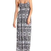 Aztec Print Strappy Maxi Dress