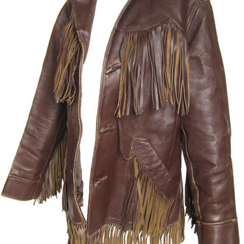 Handmade Men Brown Leather Jacket, mens cowboy leather jacket, Men Brown leather jacket