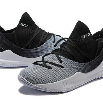 Under Armour Ua Curry 5 Black White Gradient Basketball Shoe   Best Deal Online