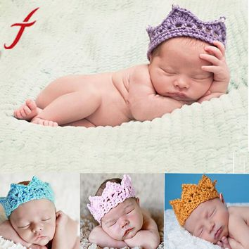 Newborn  Princess Hand-woven Crown Tiara Headband