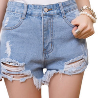 Ripped Denim Shorts Super Cool!!!! Limited Supply!! All Sizes
