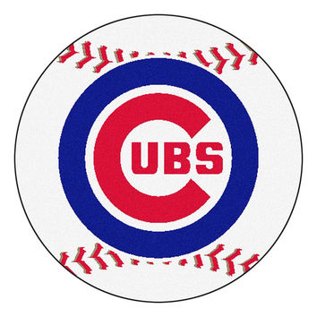 Chicago Cubs MLB Baseball Round Floor Mat (29)