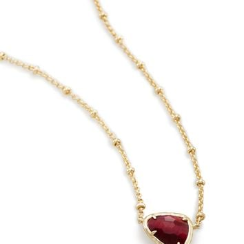 Arleen Gold Pendant Necklace in Garnet | Kendra Scott