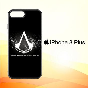 Assassins Creed Symbol Glow Z4434 iPhone 8 Plus Case
