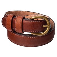 rsalbt2dl - Skinny Feathered Edge Leather Belt