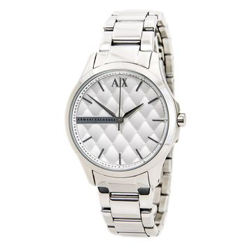 Armani Exchange AX5200 Women's Silver Quilted Dial Steel Bracelet Watch