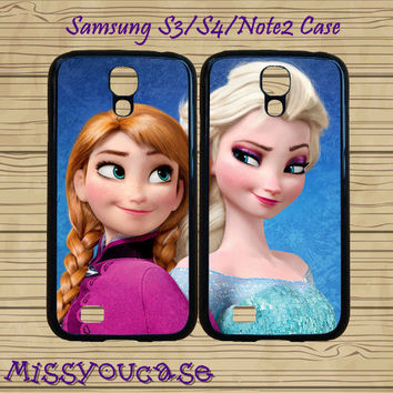 S4 Mini case,S3 Mini case,Samsung galaxy S4,Samsung galaxy S3,Samsung note 3 Case,Samsung S4 Active Case,Frozen,Elsa,Anna,best friends case.