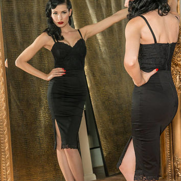 Vixen Black Lace Wiggle Dress