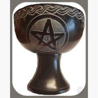 Black Pentagram Chalice Burner