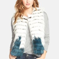 Women's Kristen Blake Tiered Faux Fur Vest,